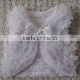 Chiffon Ruffle Sleeveless Tiered Cotton Toddler Vest For Autumn