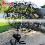A0207 Gothic Rose Black Lace Parasol in Bulk