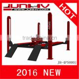 JUNHV JH-4P5000J 4 Post used home garage car lift for sale, car lift for auto repair, CE Approved
