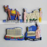 cheap customized rubber 3d tourist souvenir greece fridge magnet for promotion gifts
