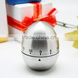 Egg shape kitchen timer, Mechanical timer 60 minutes, bell timer