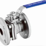 stainless steel CE certified 2-pc flanged ball valve DIN norm