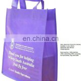 purple pp non woven shopping bag promotional non woven shopping bag
