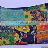 Handmade Kantha Work Pillow Cover Throw Decor Ethnic Large Size Vintage Saree Pillow Case