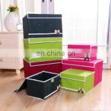Hot Sale Butterfly Attached Dot Printed Organizer 2 in 1 Organizer Clothes Storage Box Large Size