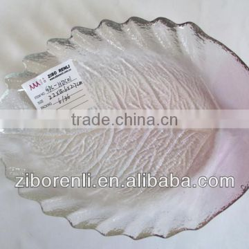 clear leaf shaped plates