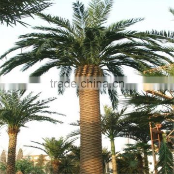 2017 hot sale outdoor decorative artificial plastic palm tree uv anti