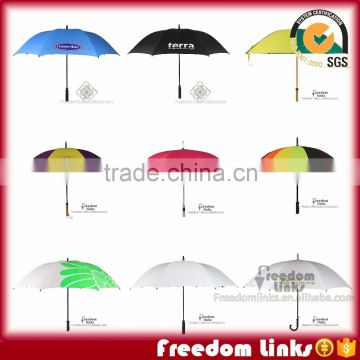 Straight Umbrella Logo Customized with EVA wooden Handle                                                                         Quality Choice