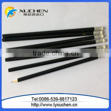 Customized logo HB pencil Standard wooden pencils with eraser toppers