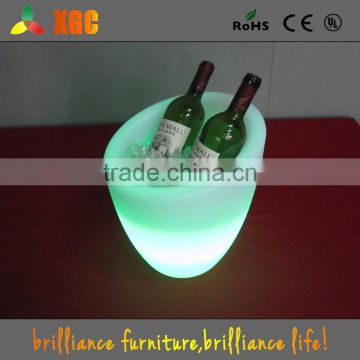 Fashionable Design Bar LED beer ice bucket for partyRechargeable Glowing LED Lighting