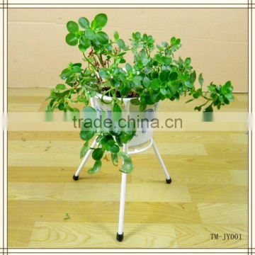 Metal wire white flower stand