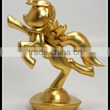 Custom 2016 new year souvenirs metal gold flying horse with wings