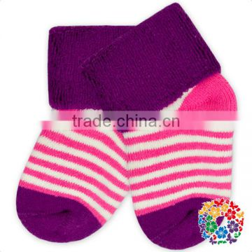 White Dots Printed Soft Cotton Socks Winter Warm Foot Baby Socks Wholesale