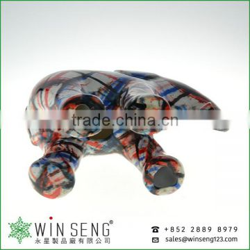 high quanlity cute painting ceramic elephant coin bank