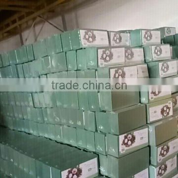 Hebei huiya Short absorb time of floral foam, good water absorption of floral foam
