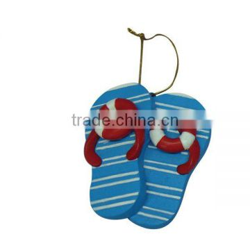 Polyresin Beach Slipper Decoration
