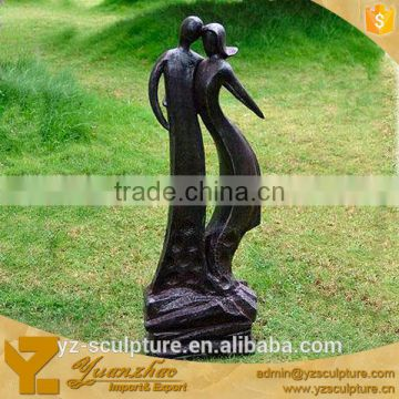 garden abstract bronze man and woman sculpture for sale