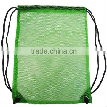 Cheap Custom polyester drawstring backpack with mesh pocket