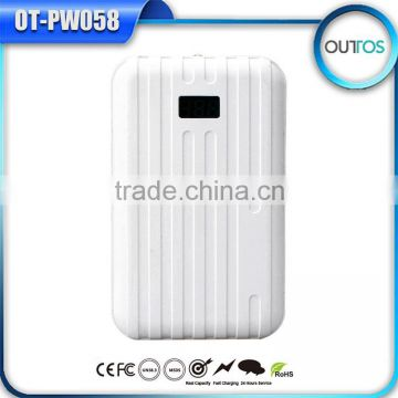 Travelling suitcase universal cellphone power bank 10000 mah