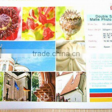 140g double side Matte Photo Paper