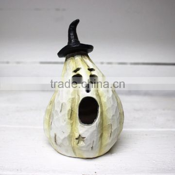 Custom halloween table decoration witch pumpkin statue