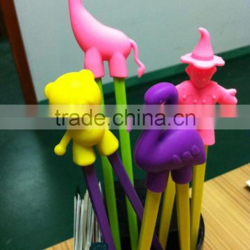 New candy color animals learning chopsticks/children training silicone chopsticks