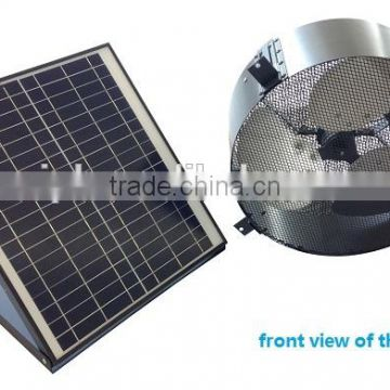 vent goods New Type 30w Wall Mounted Solar Air Ventilation Fan with thermostat