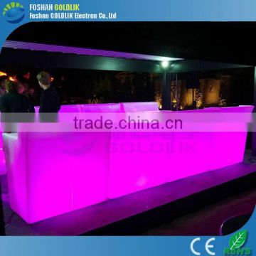 RGB Color Changing Plastic Battery Powered Lighted Luminous LED Bar Counter