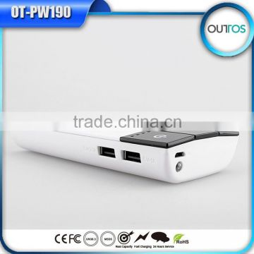 Portable Power Bank 10000mah Mobile External Battery Pack with Dual USB Output