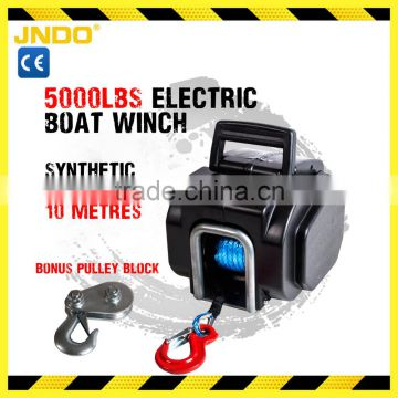 12V 5000LBS/2268KGS Synthetic Rope Electric Winch