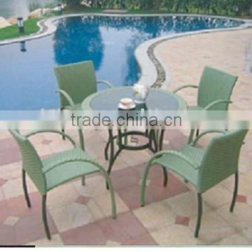 2011 new rattan outdoor tea(coffee) table with chair