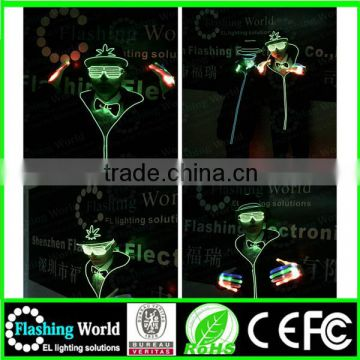 Music activated COSPLAY light up led sunglass