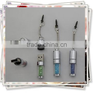 TCR- 0902 USB with crystals , USB used as keychain and phone decoration