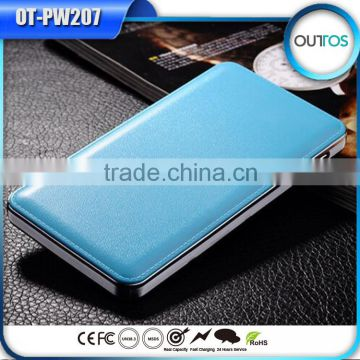 Leather case 12000mah mobile phone charger private label