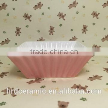 Stocked New Style Restaurant square ceramic plates dishes / salad bowl