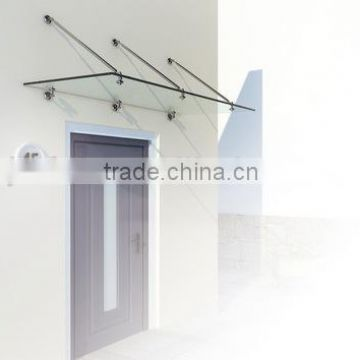 "Stainless Steel Tempered Glass Canopy ""ELLE"""