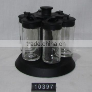 Factory price creative spice jar with stand