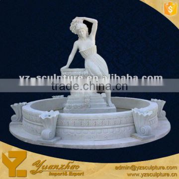 Natrual Marble Fountain For Garden With A Sex Lady For Sale