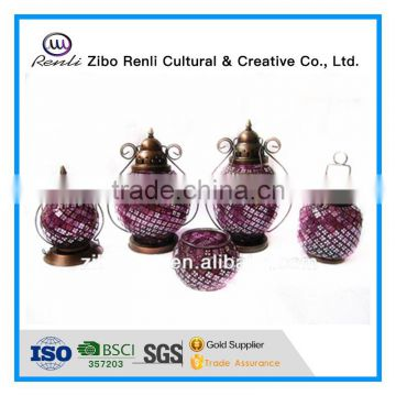 best price solar mosaic lantern for home decoration and garden decoration