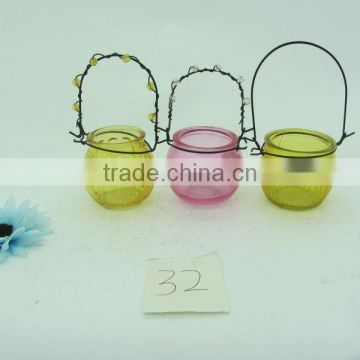 hand painted Bulk Buying Clear Glass Candle Jar Lantern High Quality Hanging