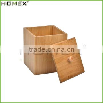 Natural Bamboo Storage Canister With Cover/Homex_Factory