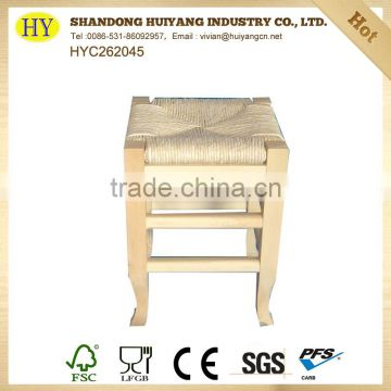 Handmade unfinished wholesale round wooden chair seat