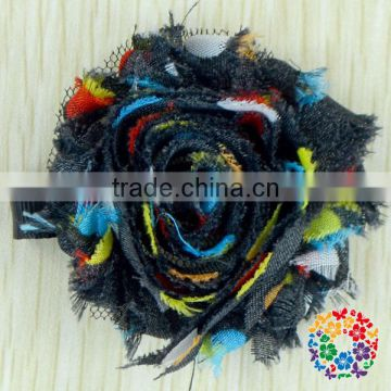 New styles! Hot-sales Handmade kids shabby Flowers with clip !girl hair flower clips ! cute hair flower clips for kids