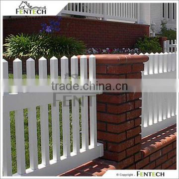 Easy to Install PVC/Vinly/Plastic Ornamental Picket Fence Factory