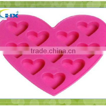 sweet heart shape cake silicone mold for dessert