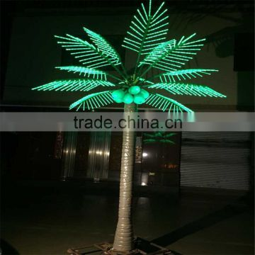 SJ20171189 artificial LED lights palm tree plastic palm tree