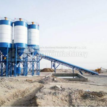 HZS150 green mobile concrete mixing plant