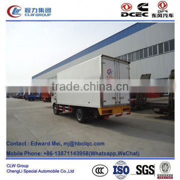 Dongfeng 4*2 type 4 ton~5 ton freezer unit trucks