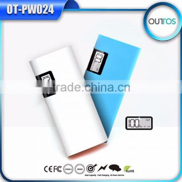 Hot new products for 2015 18650 new power bank battery charger with LCD display