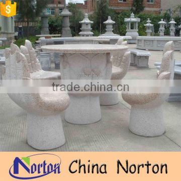 Natural stone marble outdoor dining tables and chairs home furniture for sale NTS-B007Y